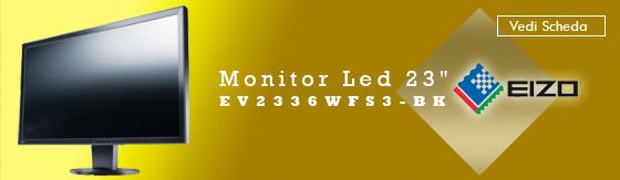 """Monitor Led 23"""" Eizo EV2336WFS3-BK 16:9 DVI+DP+USB nero [EV2336WFS3-BK]"""