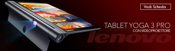 Tablet Lenovo Yoga 3 Pro YT3-X90L LTE x5-Z8500 QHD con videoproiettore Android 5.1 [ZA0G0054DE?09]