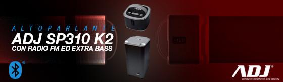 Altoparlante Adj SP310 K2 Bluetooth 2 in 1 8WX2 + 10W con radio nero/grigio