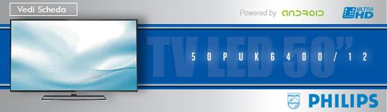 """Tv Led 50"""" Philips 50PUK6400/12 Ultra Hd 4K"""